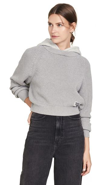 alexanderwang.t Utility Hoodie Sweater in grey