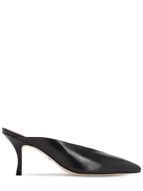STUART WEITZMAN 75mm Lulah Leather Mules in black