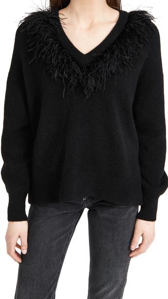 Cinq a Sept Lizzie Sweater in black