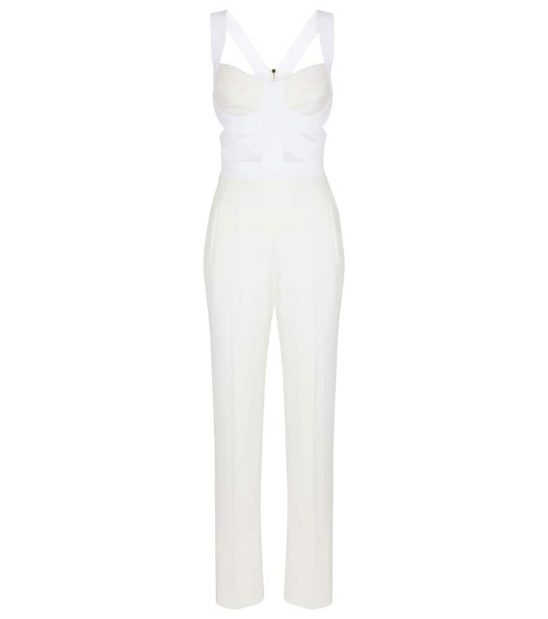 Roland Mouret Woodford stretch-crêpe jumpsuit in white