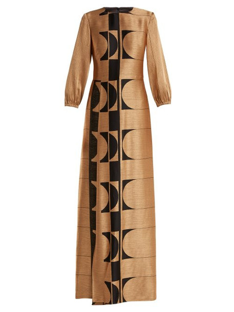 Carl Kapp - Osiris Abstract Jacquard Gown - Womens - Gold Multi
