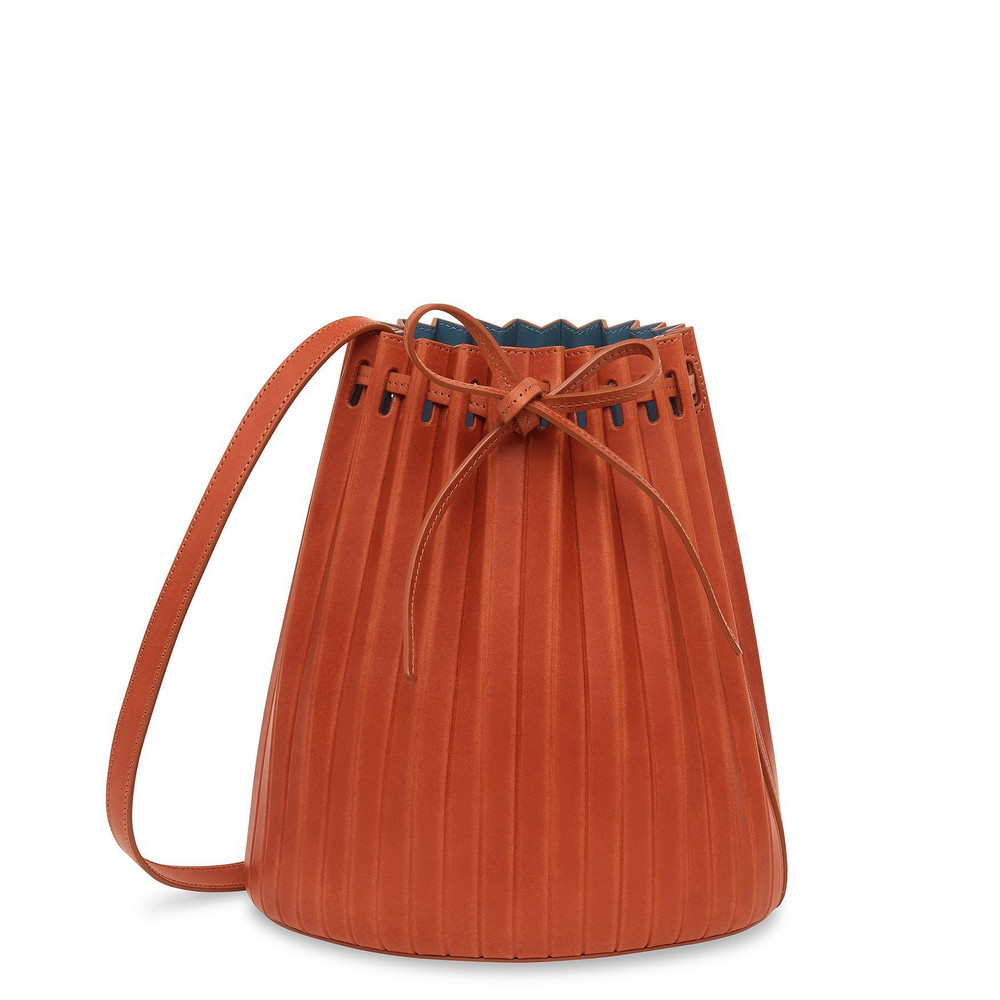 Mansur Gavriel Brandy Pleated Bucket Bag (Re20) - Avion