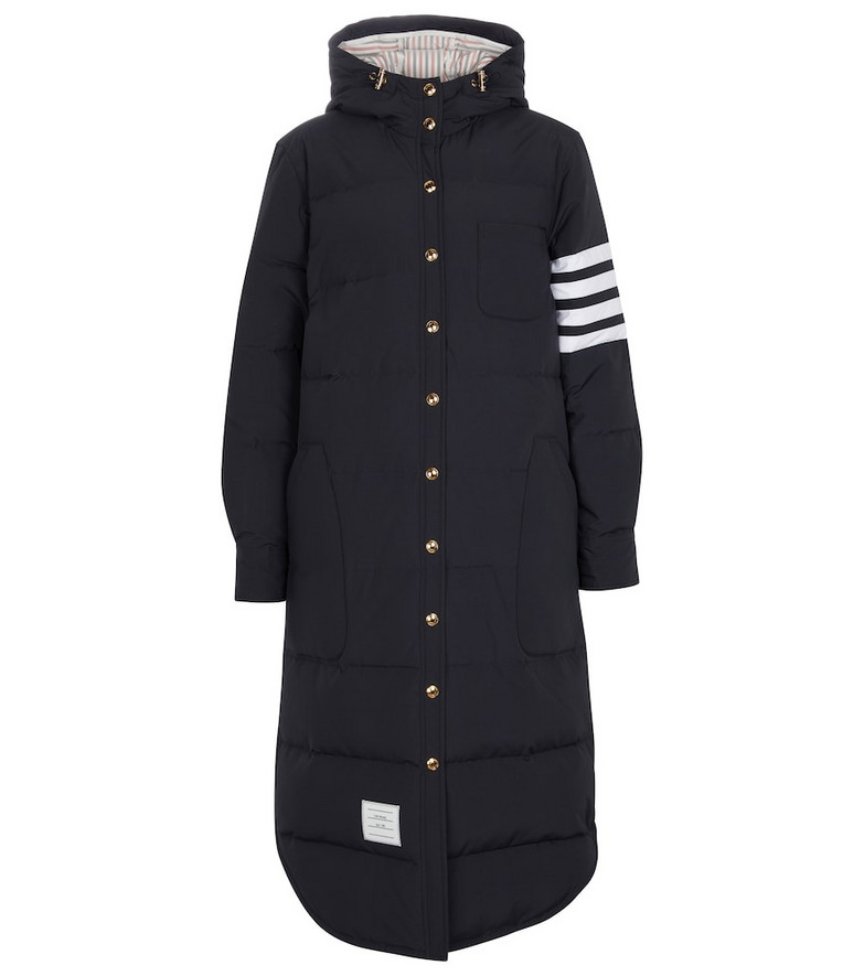 Thom Browne Quilted down coat in blue