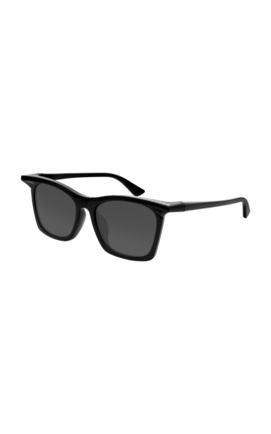 Balenciaga Rim Square-Frame Acetate Sunglasses in black
