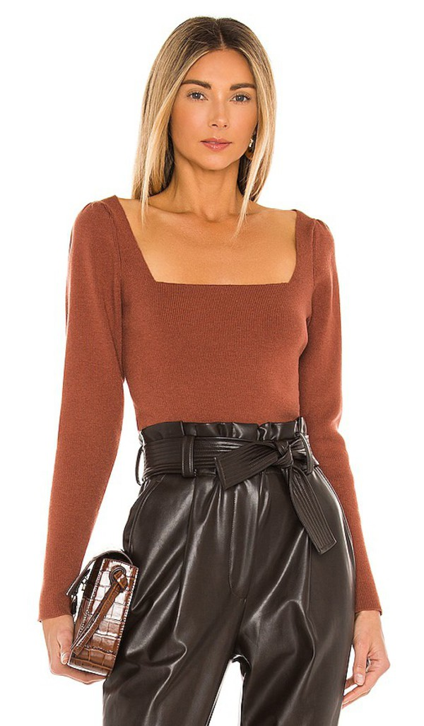 Camila Coelho Leena Sweater in Red in copper