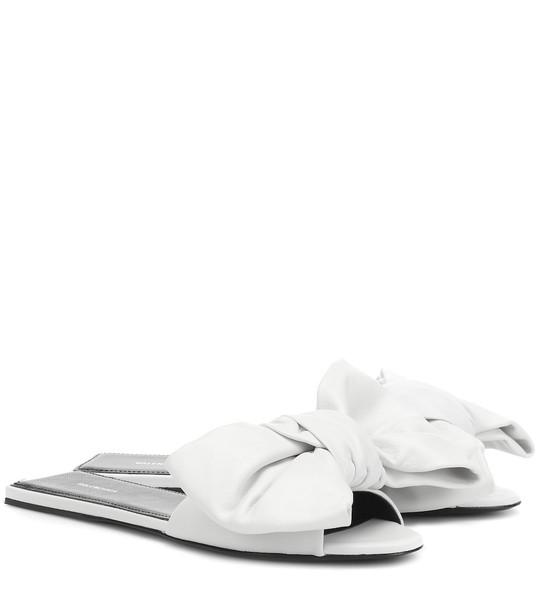 Balenciaga Leather slides in white