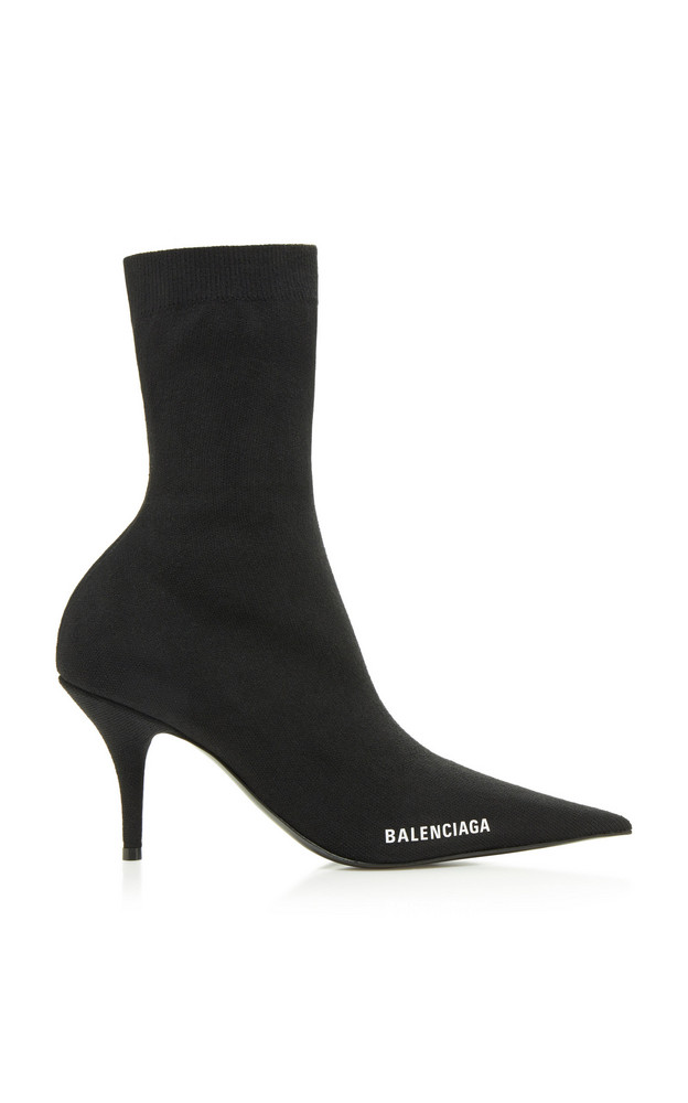 Balenciaga Knife Knit Booties in black