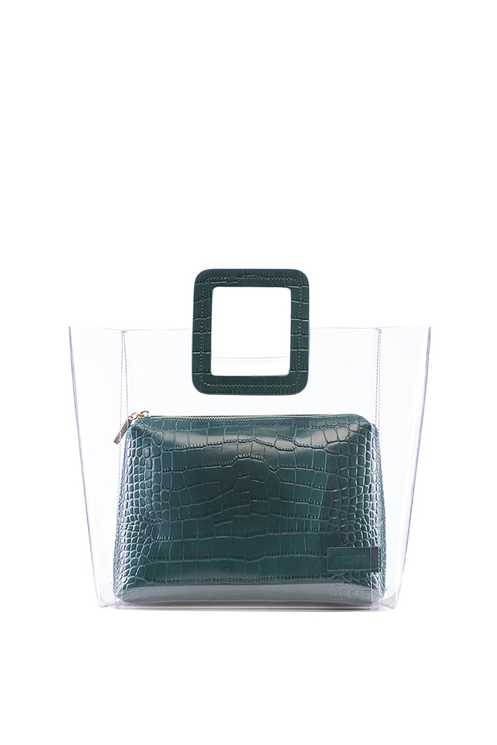 Staud SHIRLEY BAG | JADE CROC EMBOSSED