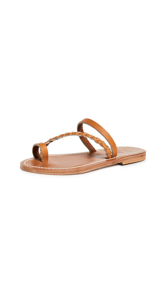 K. Jacques Septine Toe Ring Slide Sandals in natural