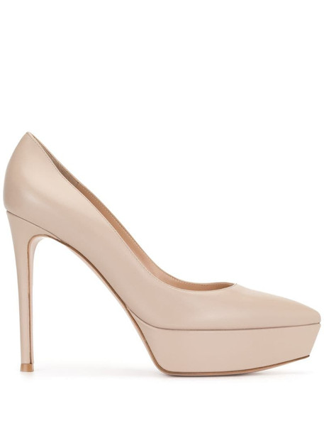 Gianvito Rossi platform pointed toe pumps in pink