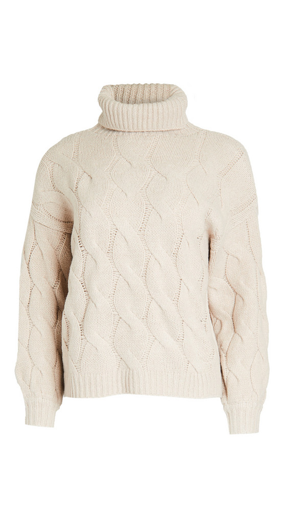 Line & Dot Aimee Cable Knit Sweater in taupe