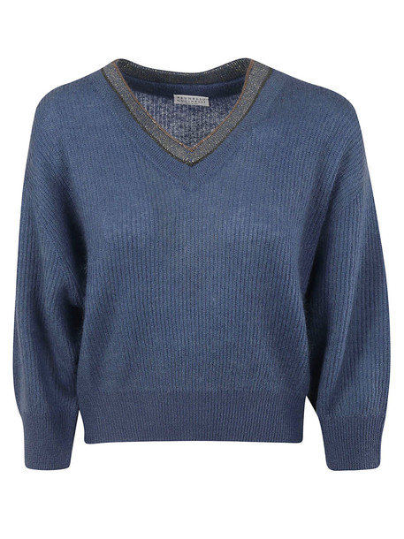 Brunello Cucinelli Beaded Collar Sweater