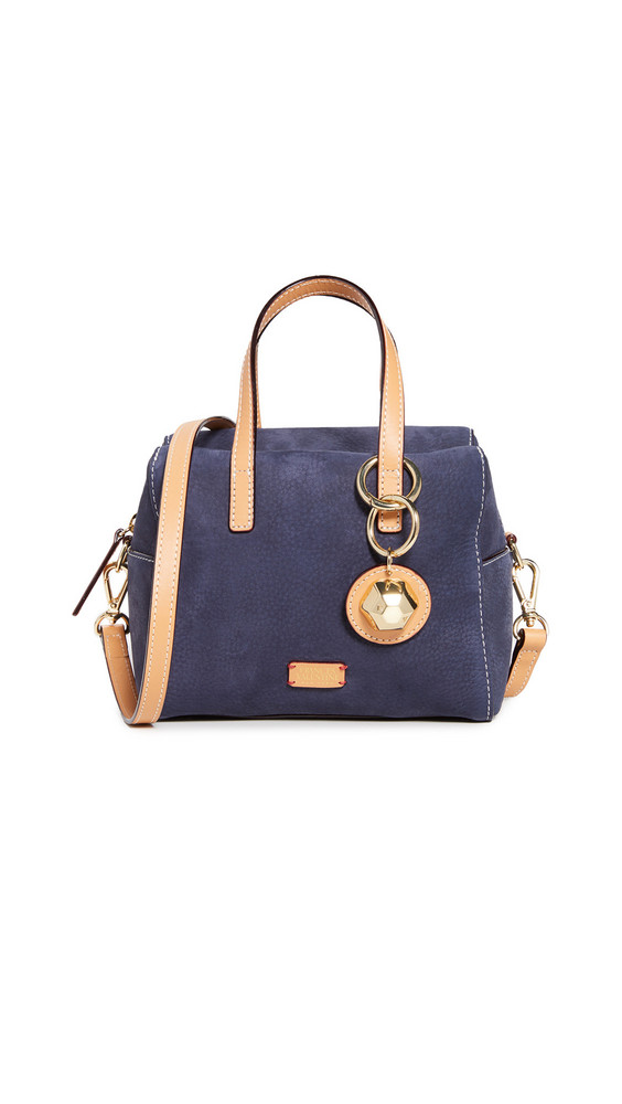 Frances Valentine Small Sabrina Satchel in navy