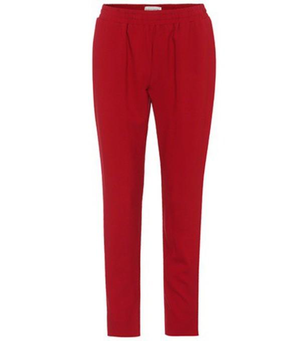 Mansur Gavriel Crêpe trousers in red