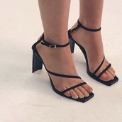 shoes,kitten heel,black,strappy,heels,sandals