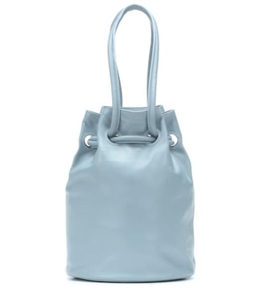 Mansur Gavriel Micro leather bucket bag in blue