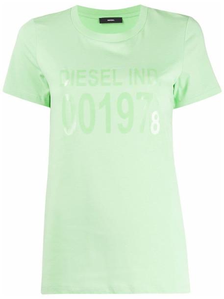 Diesel short sleeve logo T-shirt in green