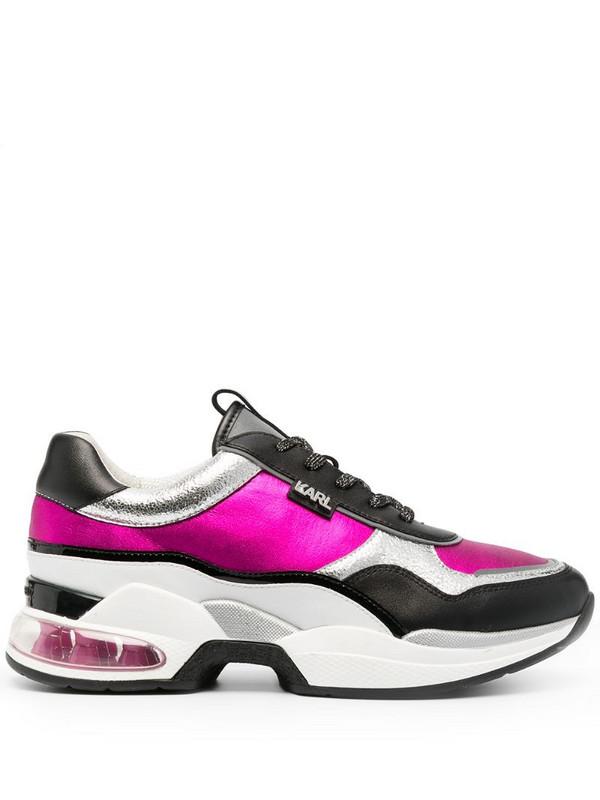 Karl Lagerfeld Ventura Lazare metallic-print sneakers in pink