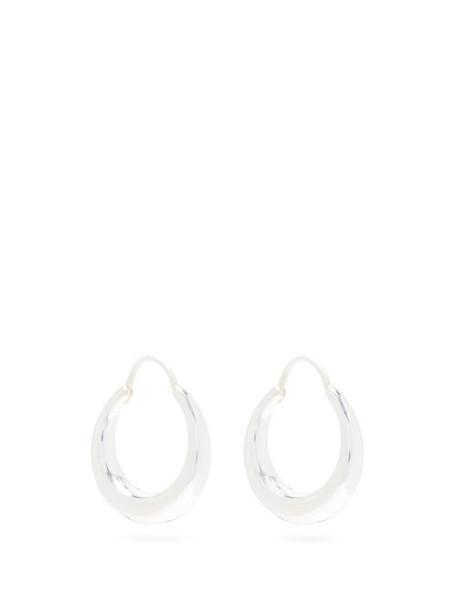 All Blues - Fat Baby Snake Sterling Silver Hoop Earrings - Womens - Silver