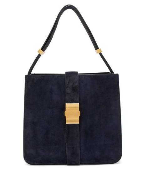Bottega Veneta - Marie Suede Shoulder Bag - Womens - Navy