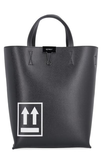 Off-White Printed Tote Bag in black