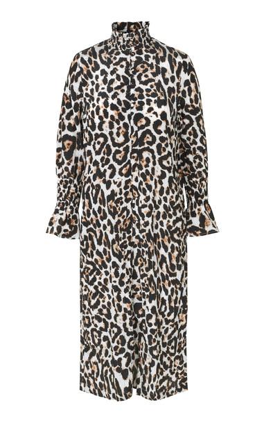 Baum und Pferdgarten Aeverie Leopard-Print Crepe Dress in black
