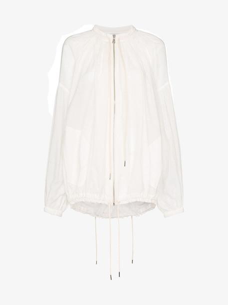 Lee Mathews Ginger bomber jacket in white
