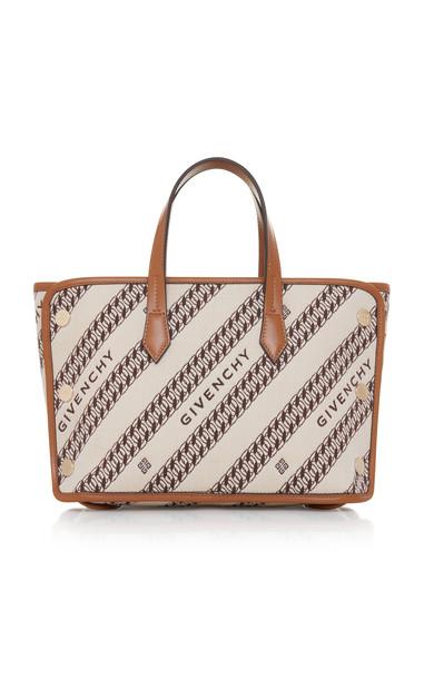Givenchy Bond Mini Logo-Jacquard Canvas Shopper Tote in neutral
