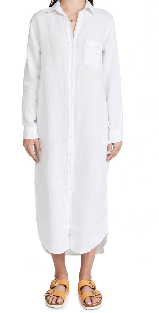 Frank & Eileen Rory Woven Long Dress in white