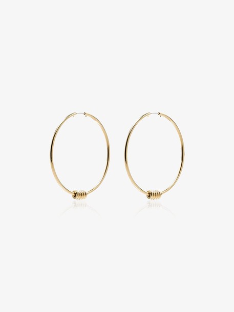 Spinelli Kilcollin Yellow Gold Leela hoop earrings
