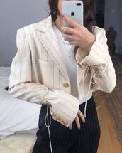 jacket,beige jacket