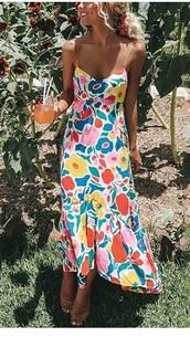 dress,multicolor,midi dress,cocktail dress,summer dress