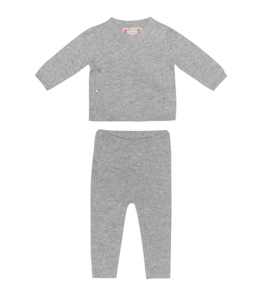 Bonpoint Baby cashmere sweater and pants set in grey