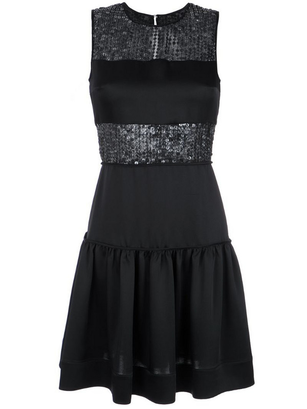 Gloria Coelho sequin panelled dress in black