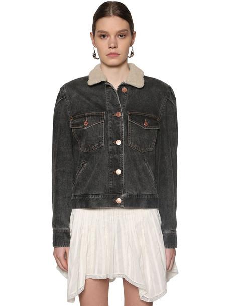 ISABEL MARANT ÉTOILE Nolinea Cotton Denim Jacket in black