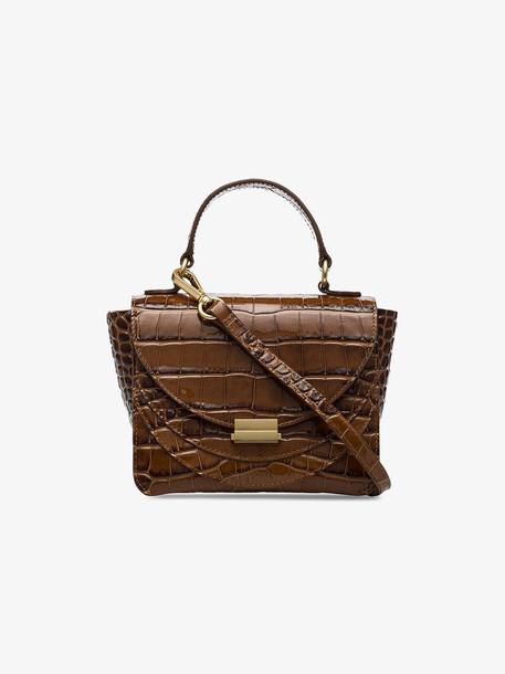 Wandler Brown Luna crocodile-effect mini bag