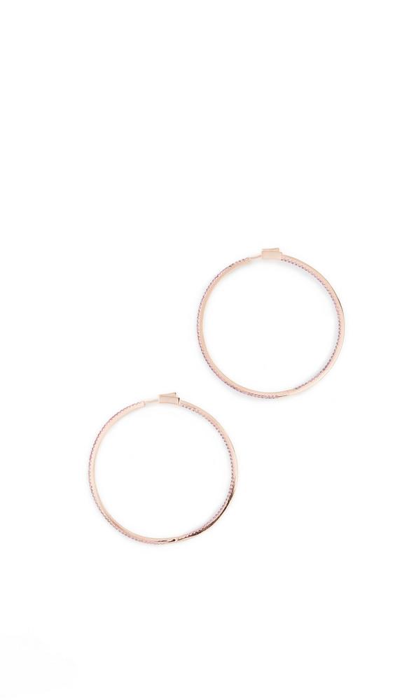 Nickho Rey Evie Slim Hoop Earrings in pink