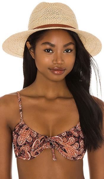 Janessa Leone Ivana Hat in Tan in natural