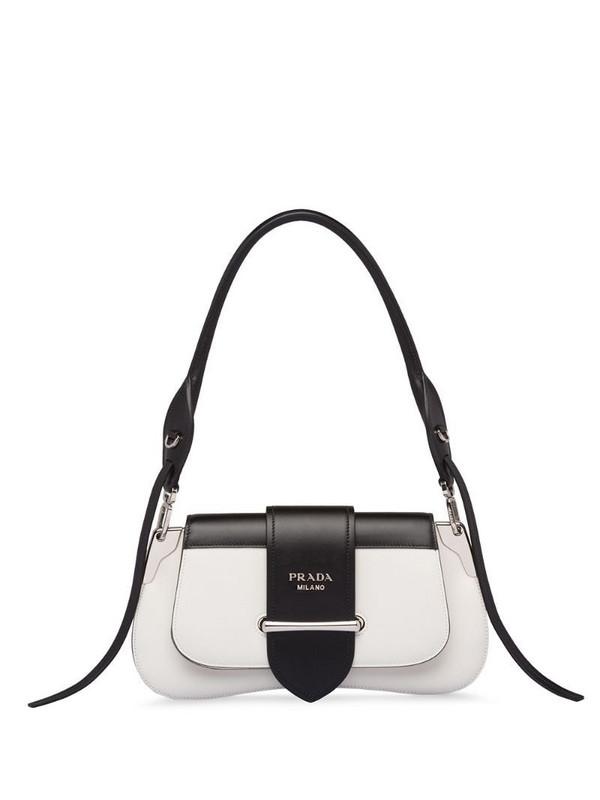 Prada Sidonie logo shoulder bag in white
