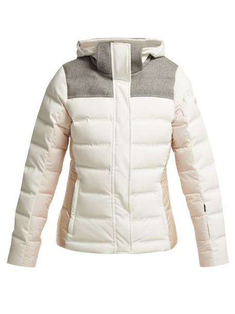 Capranea - Downhill Quilted Ski Jacket - Womens - White