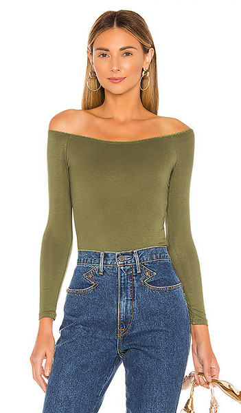 Privacy Please Brooklyn Top in Olive in green