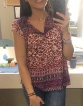 blouse,pink,floral,broadway,dear evan hansen,purple,pattern,tribal pattern