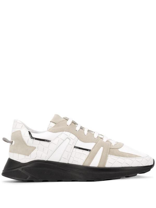 Hide&Jack crocodile-effect low-top sneakers in white