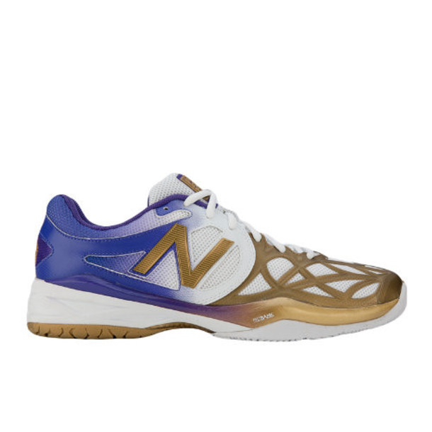 New Balance Limited Edition UK 996 Women's Tennis Shoes - White, Purple, Gold (WC996GSW)