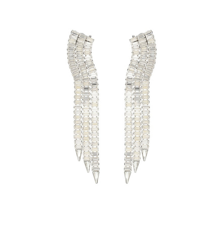 Gucci Crystal-embellished earrings in silver