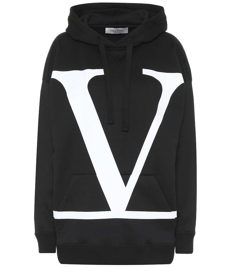 Valentino VLOGO cotton-blend hoodie in black