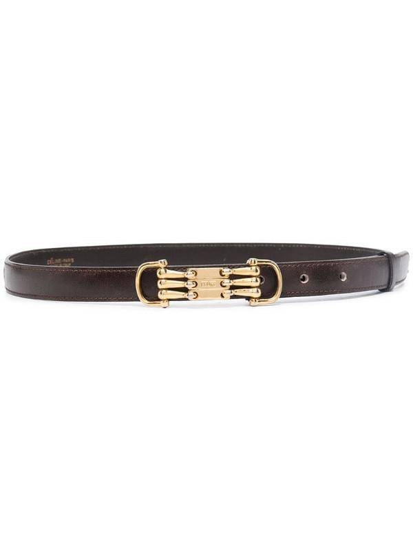 Céline Pre-Owned pre-owned horsebit detail belt in brown