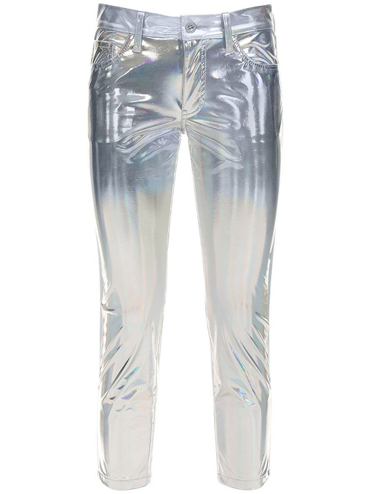 JUNYA WATANABE Metallic Coated Pants in silver