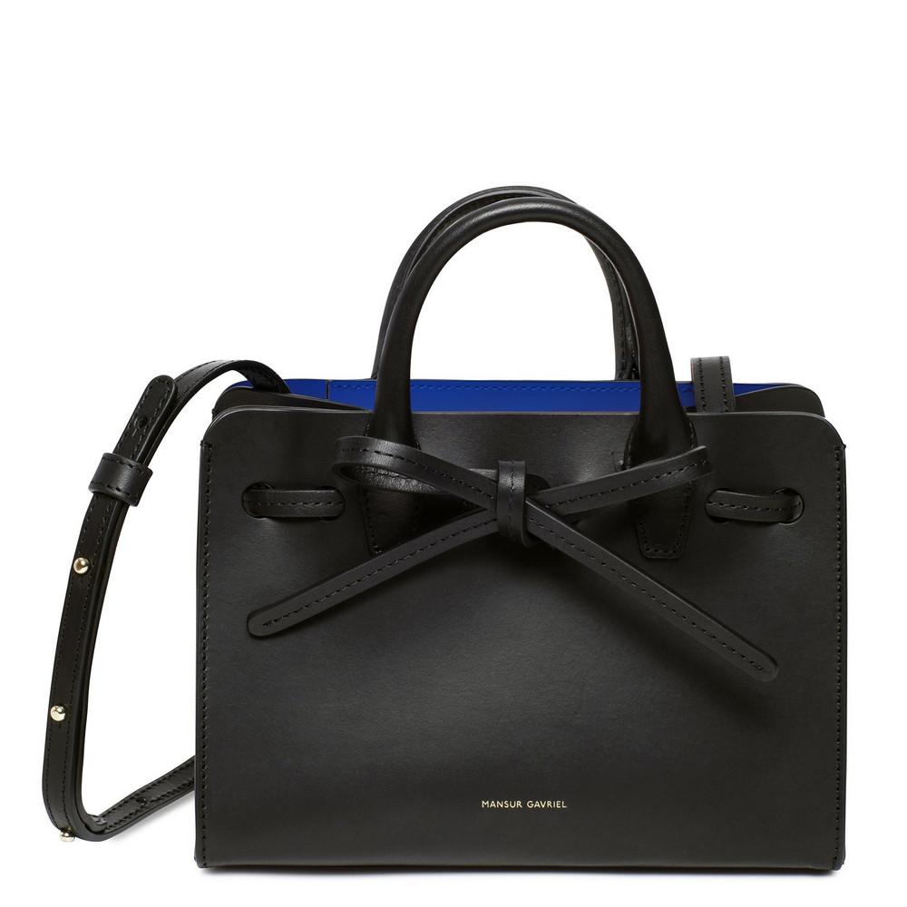 Mansur Gavriel Black Mini Mini Sun Bag - Royal