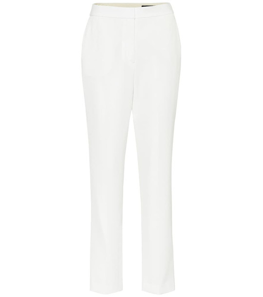 Rag & Bone Layla high-rise straight twill pants in white